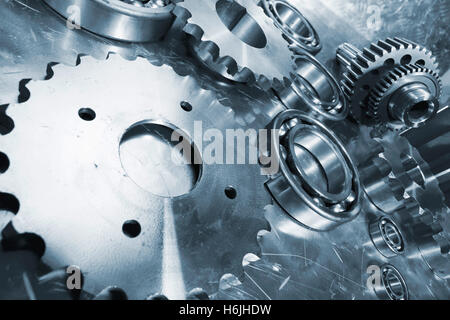 titanium engineering parts for the aerospace industry - Stock Image