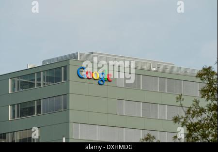 Office of the Google European headquarters in Zurich, Switzerland. - Stock Image