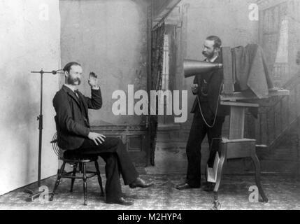 Trick Photograph, Self-Portrait, 1893 - Stock Image