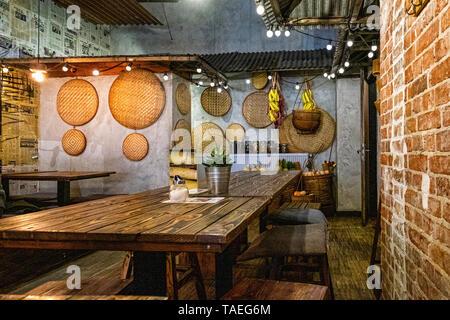 Fam Dang Vietnamese restaurant interior in Torstasse, Mitte-Berlin. - Stock Image