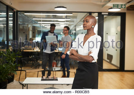 Young businesswoman in office - Stock Image