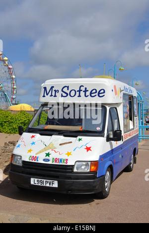 Mr Softee ice cream van, Skegness, Lincolnshire, England, UK - Stock Image