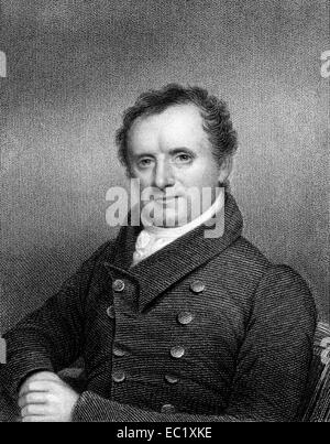 James Fenimore Cooper (1789-1851) on engraving from 1834. American writer. - Stock Image