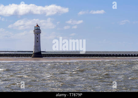 Perch Rock lighthouse New Brighton. - Stock Image
