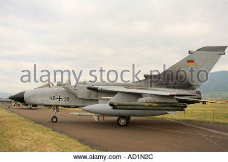 Zeltweg 2005 Airpower 05 airshow Austria, German Luftwaffe Panavia Tornado ECR - Stock Image