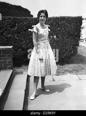 Mary McFadden in Southampton, 1955 - Stock Image
