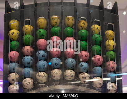National Lottery Machine - Stock Image