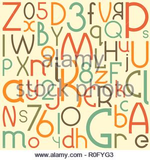 Typographic composition. Vector background - Stock Image