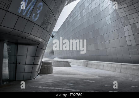 Dongdaemun Design Plaza, by architect Zaha Hadid. Seoul, South Korea - Stock Image