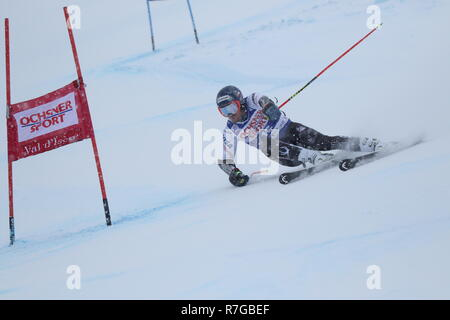 08 December 2018 Val d'Isère, France. Ted Ligety Alpine Skier from USA competing in men's Giant Slalom Audi FIS Alpine Ski World Cup 2019 - Stock Image