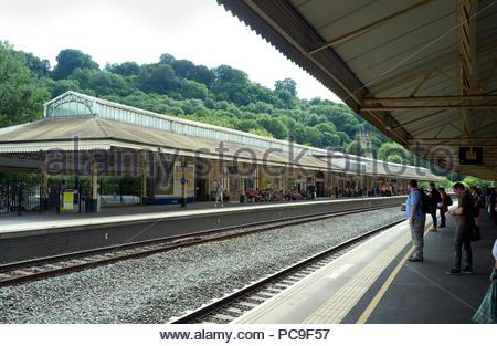 Bath Spa railway station, in the city of Bath, UK. - Stock Image