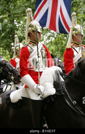 Household Calvary, Life Guards, The Mall, London, Trooping the Colour Ceremony, June 14th 2008 - Stock Image