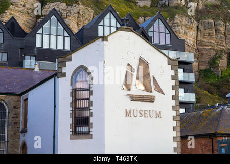 Hastings fishermens museum, hastings, east sussex, uk - Stock Image