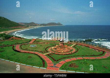 tennety park,visakhapatnam,andhra pradesh,india - Stock Image
