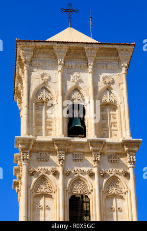 St Lazarus church bell tower, Larnaca, Cyprus October 2018 - Stock Image