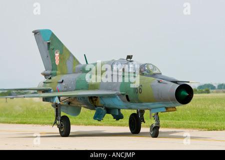 Croatian Air Force MiG-21 UMD '166' trainer - Stock Image