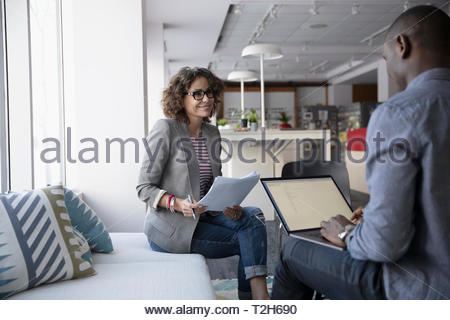 Business people meeting, planning in office - Stock Image