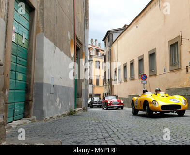 Viterbo, Italy. 20th, May 2017.  Crew composed by John Devine (USA) Alan Matthews (GB) with their model car, FERRARI - Stock Image