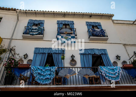 MARBELLA, ANDALUSIA / SPAIN - OCTOBER 07 2017: DECORATED WALL OF THE HOUSE - Stock Image