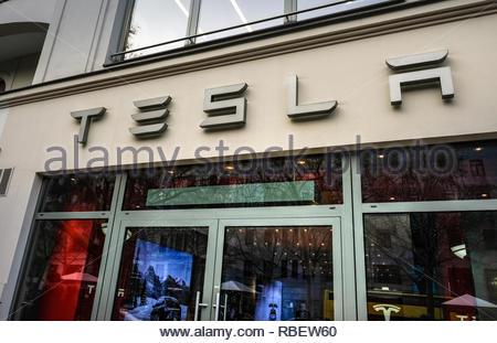 Tesla Store - Stock Image