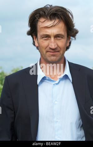 Christophe Dussutour, manager, winemaker chateau trottevieille saint emilion bordeaux france - Stock Image