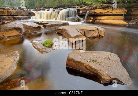 Lower Falls of Wainwath Force - Stock Image