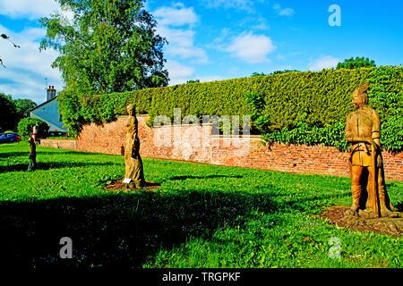 The Sadberge Guardians, Sadberge, Borough of Darlington, England - Stock Image