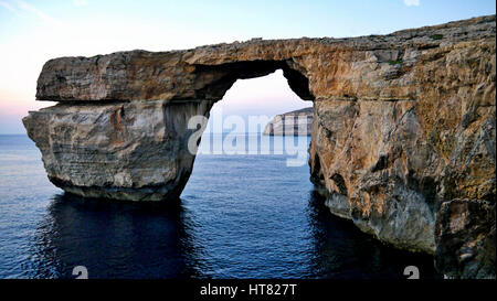 Malta's famous Azure Window before it collapsed in 2017 - Stock Image