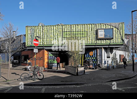 Exterior view of 'Pop Brixton' - Stock Image