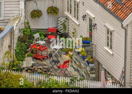 Old Town Garden, Stavanger, Norway - Stock Image