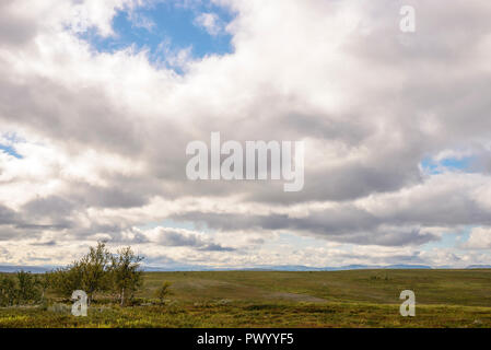 arctic mountain top, cloudy summer day - Stock Image
