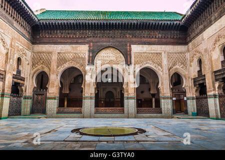 Madrasa in Fez Morocco - Stock Image