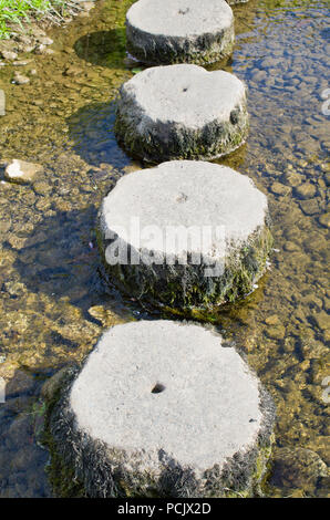 Stepping Stones Gargrave North Yorkshire UK - Stock Image