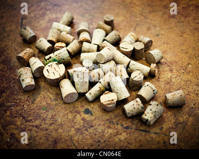Selection of corks in science laboratory - Stock Image