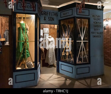 1940's Clothes shop in Swansea, Wales, UK - Stock Image