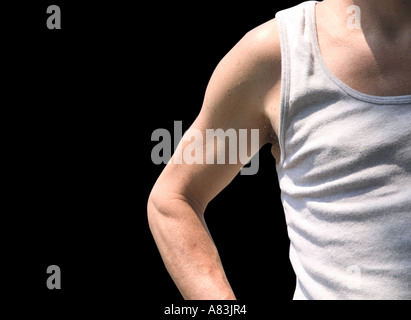 A man's bicep and forearm - Stock Image
