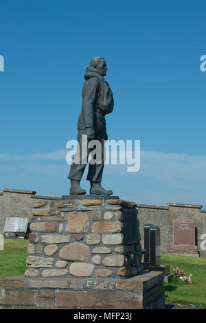 Longhope Lifeboat Disaster Memorial, Soth Walls, Hoy, Orkney, Scotland - Stock Image