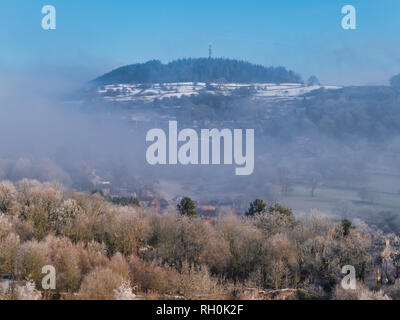 Bolehill, Wirksworth, Derbyshire Dales. 31st Jan 2019. UK Weather: Bolehill in the snow on a very cold winter day, Bolehill, Wirksworth, Derbyshire Dales Credit: Doug Blane/Alamy Live News - Stock Image