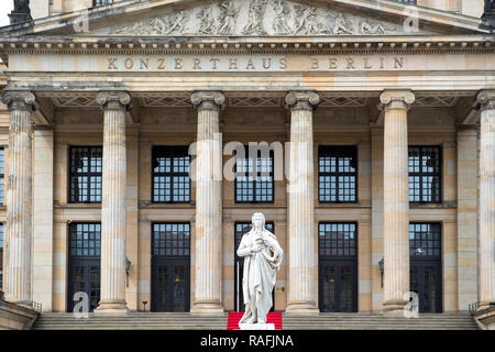 Exterior of the Konzerthaus concert hall situated on the Gendarmenmarkt in Berlin, Germany - Stock Image