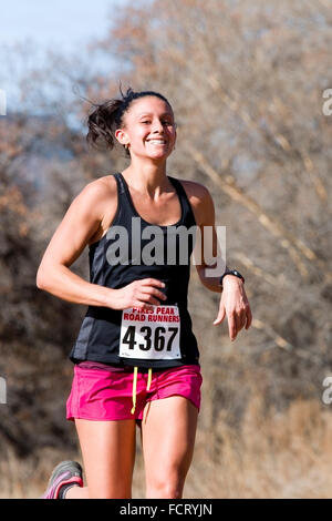 Runners in the PPRR Winter Series - Stock Image