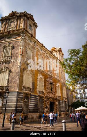 Marques de Dos Aguas Palace, Ceramics Museum, exterior in Valencia Spain - Stock Image