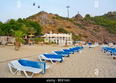 Damlatas beach, at dusk, Alanya, Turkey, Eurasia - Stock Image