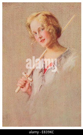 Actress Pauline Chase May 20, 1885 – March 15, 1962 as Peter Pan circa 1910 - Stock Image