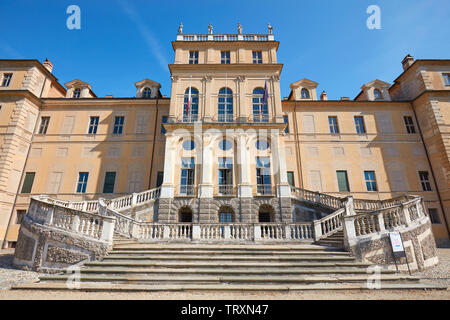 TURIN, ITALY - AUGUST 20, 2017: Villa della Regina, queen palace facade, low angle view in a sunny summer day in Turin, Italy. - Stock Image