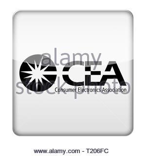 CEA Consumer Electronics Association logo icon - Stock Image