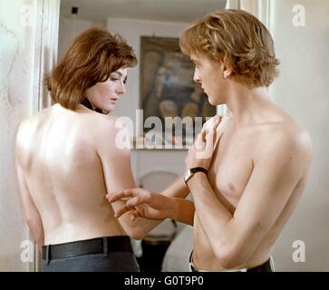 Vanessa Redgrave and David Hemmings / Blow-up / 1966 directed by Michelangelo Antonioni (Bridge Films - Carlo Ponti - Stock Image