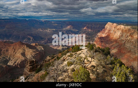 Grand Canyon in evening light, suggesting renaissance old painting. - Stock Image
