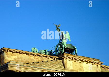 Europe, Germany, Germany, Berlin, the Brandenburg Gate,quadriga, Brandenburger Tor, Westseite - Stock Image
