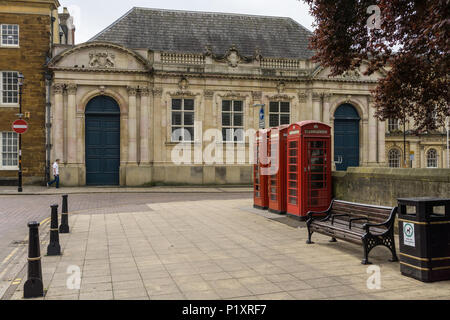 The historic County Hall, a listed building in Northampton UK; in the news in June 2018 as Northamptonshire County Council propose to sell it. - Stock Image