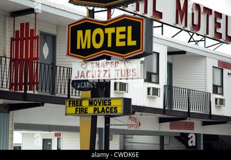 Cheesy Honeymoon Motel - Stock Image